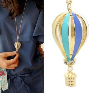 Adorable Hot Air Balloon Necklace